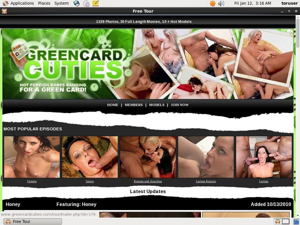 Greencardcuties.com User Name Password