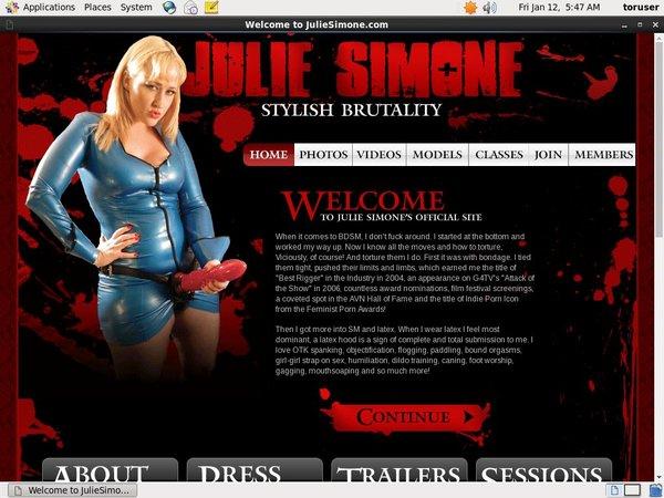 Julie Simone Sex.com