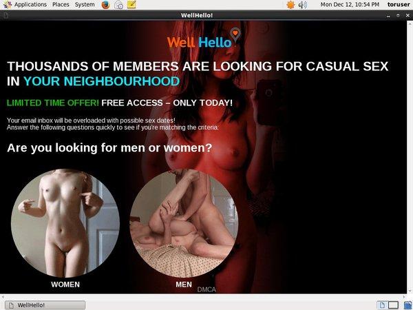 Get Free Wellhello.com Account