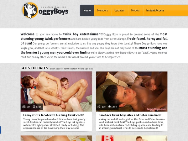 Doggy Boys With European Credit Card